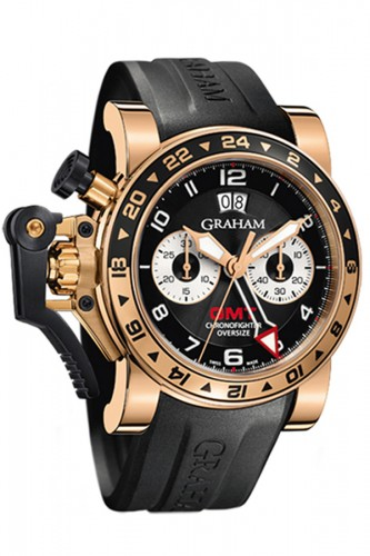 detail Graham Chronofighter Oversize GMT Black 20VGR.B21A