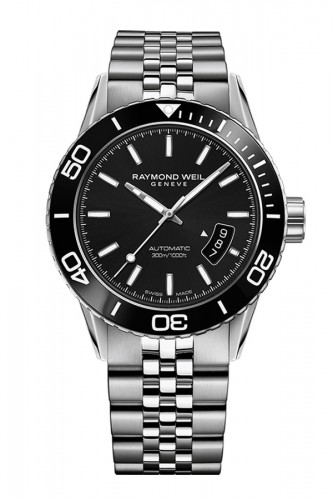 detail Raymond Weil Freelancer Diver 42 mm 2760-ST1-20001