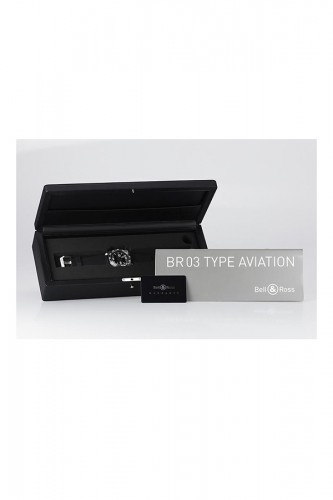 detail Bell & Ross BR 03 Type Aviation Carbon BR0392-AVIA-CA