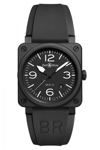 detail Bell & Ross Black Matte BR0392-BL-CE