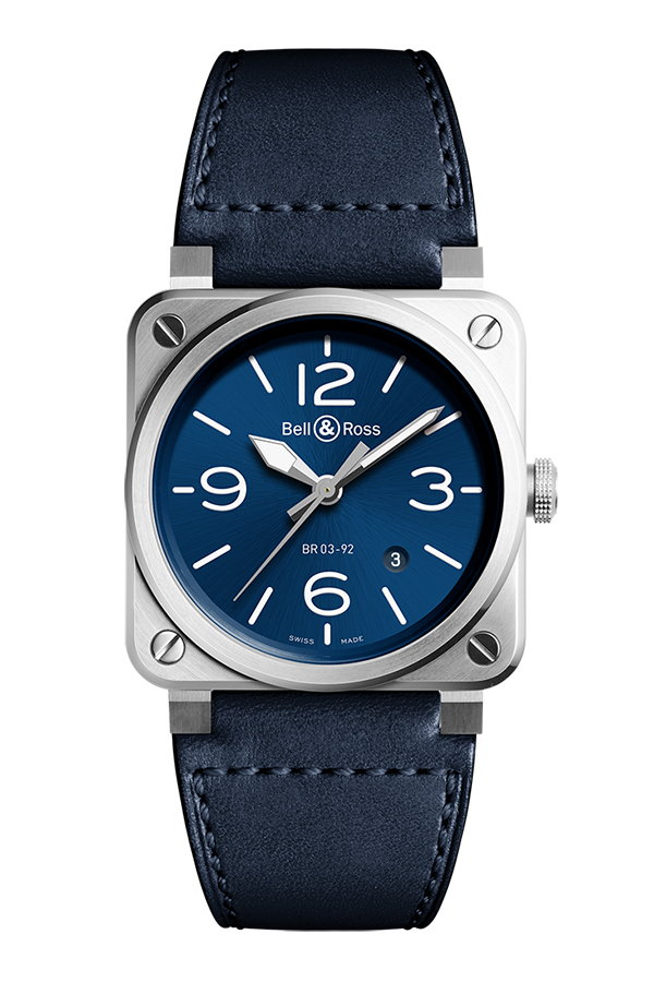 detail Bell & Ross Instruments BR0392-BLU-ST/SCA