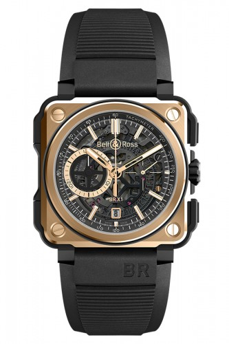 detail Bell & Ross Rose Gold & Ceramic BRX1-CE-PG