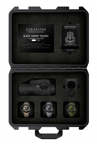 Graham Chronofighter Oversize Black Arrow Set