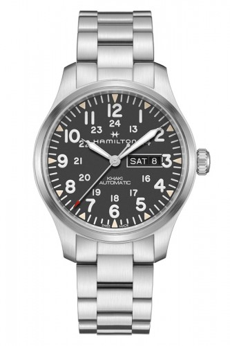 detail Hamilton Khaki Field Day Date Automatic H70535131