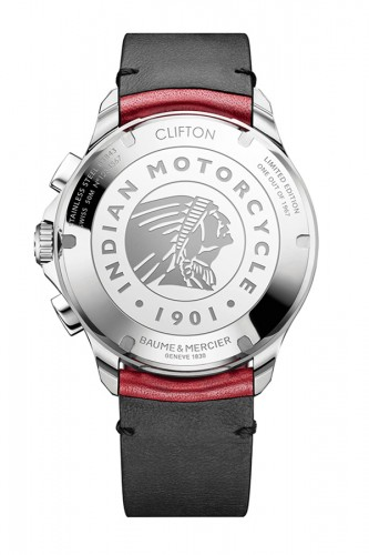 detail Baume & Mercier Clifton Club Indian Burt Munro M0A10404