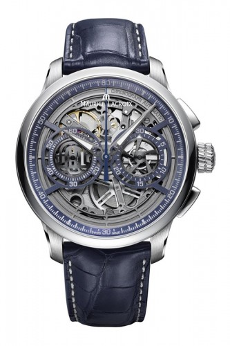detail Maurice Lacroix Masterpiece Skeleton Chronograph MP6028-SS001-002-1