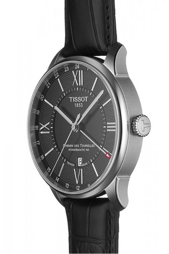 detail Tissot Chemin Des Tourelles Powermatic 80 GMT T099.429.16.058.00